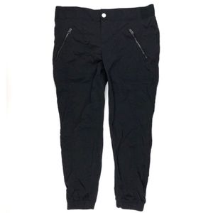 Athleta 12P Trekkie Jogger Black Stretch Pants